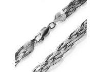 Splétaný stříbrný náhrdelník 45 cm