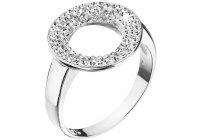 Stříbrný prsten s krystaly Swarovski - kruh