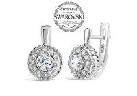 Luxusní stříbrné náušnice NOBLESS se Swarovski ® Zirconia