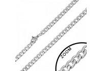 Ocelový náhrdelník curb 4 mm