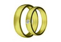 Snubní prsten Claudia 2 žluté zlato