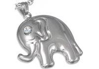 Ocelový přívěsek - slon