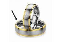Ocelový snubní prsten RC2044m