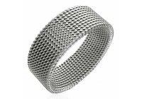 Ocelový prsten splétaný
