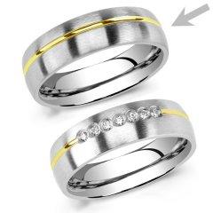 Ocelový snubní prsten RRC2048m