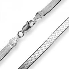Stříbrný plochý náhrdelník 45 cm