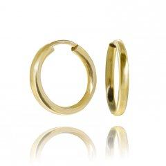 Zlaté náušnice kreole hladké 15 mm