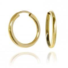 Zlaté náušnice kreole hladké 20 mm