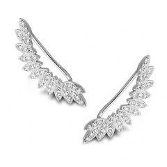 Stříbrné lemující náušnice - křídla