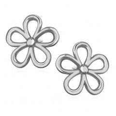Stříbrné náušnice květiny
