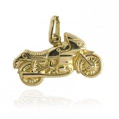 Zlatý přívěsek - silniční motorka