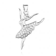 Stříbrný přívěsek balerína