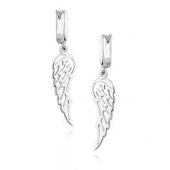 Stříbrné visací náušnice prořezávaná křídla