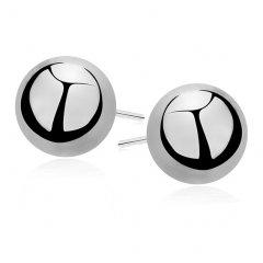 Stříbrné náušnice - kuličky 10 mm