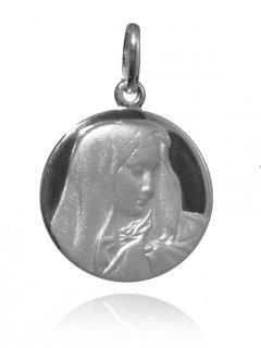 Stříbrný medailonek - madona