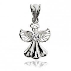 Přívěsek z bílého zlata - anděl