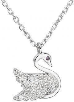 Stříbrný náhrdelník s labutí
