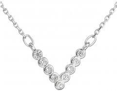 Stříbrný náhrdelník s devíti čirými zirkony