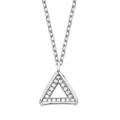 Stříbrný náhrdelník - trojúhelník se zirkony