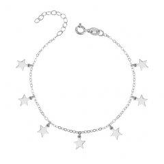 Stříbrný náramek s hvězdičkami