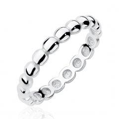 Stříbrný kuličkový prsten 3 mm