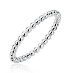 Stříbrný kuličkový prsten 2 mm