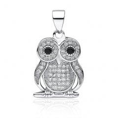 Luxusní stříbrný přívěsek - sova