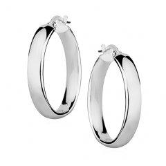 Stříbrné náušnice kruhy 25 x 4 mm