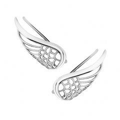 Stříbrné lemující náušnice - andělská křídla