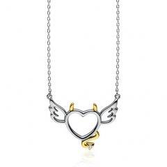 Stříbrný náhrdelník DEVIL HEART