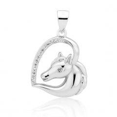 Stříbrný přívěsek kůň v srdci