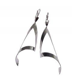 Stříbrné náušnice - velké trojúhelníky