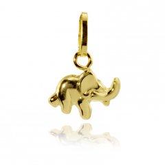 Zlatý slon 9 x 6 mm