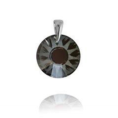 Stříbrný přívěsek Swarovski Sun 19 mm černo-stříbřitý