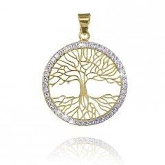 Zlatý přívěsek strom života se zirkony