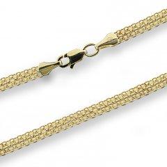 Zlatý náhrdelník bismark 4 mm