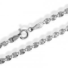 Stříbrný náhrdelník s rytými ploškami 50 cm