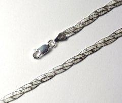 Stříbrný náhrdelník magic splétaný, 45 cm