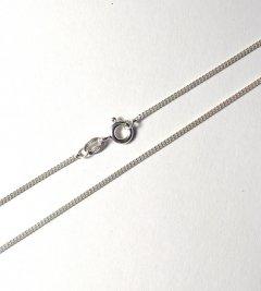 Jemný stříbrný řetízek - pancr, 45 cm