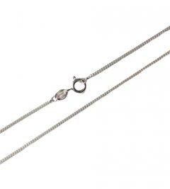 Jemný stříbrný řetízek - pancr, 50 cm