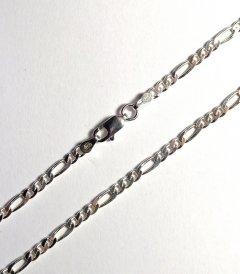 Stříbrný náramek figaro 3 mm/18 cm