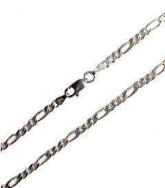 Stříbrný náramek figaro 3 mm/19 cm