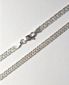 Stříbrný náhrdelník - dvojitý pancr 50 cm