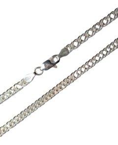 Stříbrný náhrdelník - dvojitý pancr 45 cm
