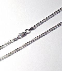 Stříbrný náramek - pancr 3 mm/18 cm