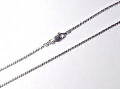 Jemný kulatý stříbrný náhrdelník 40 cm