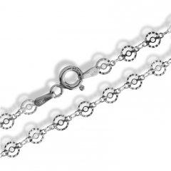 Stříbrný náhrdelník z kulatých dílků