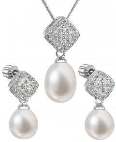 Luxusní stříbrná perlová souprava