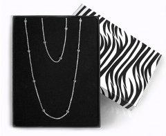 Souprava stříbrného náhrdelníku a náramku s kuličkami