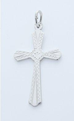 Stříbrný přívěsek - ručně rytý křížek